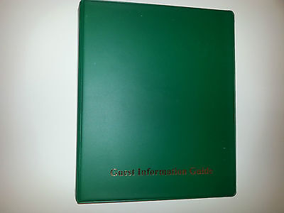 Guest Information Guide Pvc Folder(4D 25)  With 25 Pockets Ref Green/Gold
