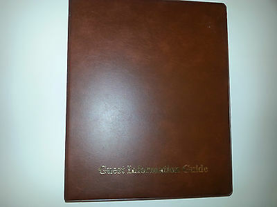 Guest Information Guide Pvc Folder(4D 25)  With 25 Pockets Ref Brown/Gold