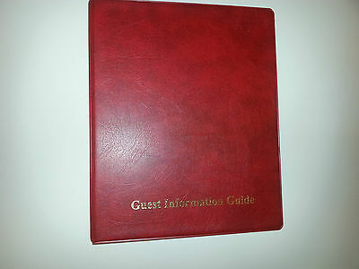 Guest Information Guide Pvc Folder(4D 25)  With 25 Pockets Ref Red/Gold