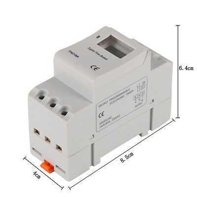 THC15A AC 12V-220V Digital LCD Power Weekly Programmable Timer Time Relay Switch