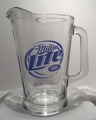 Miller Lite Heavy Glass Draft Beer Pitcher