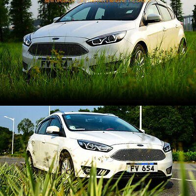 Led Headlights For 2017 Ford Focus Halo Projector Uu Style Drl Set