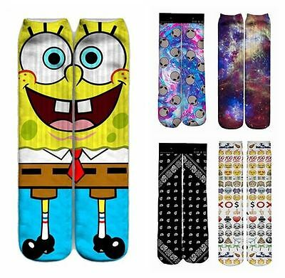 Womens/Men/Kids/Girls/Boys Emoji Bandana Aliens Galaxy Nebula Space Spongebob
