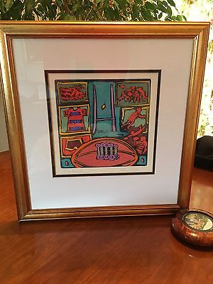 Simon Bull One Of A Kind Mixed Media Etching 1/1 Worldwide