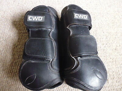 CWD leather tendon boots velcro fasten neoprene lined black size 3 or full size