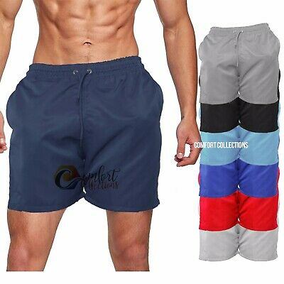 Men's Plain Summer Beach Holiday Trunks Shorts Surf Board Cargo Shorts All Sizes