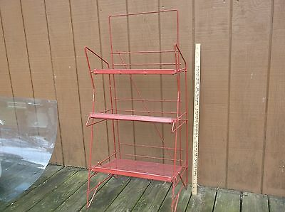 Vintage Retail Store Fixture Display Wire Shelf or Garden Industrial Folding