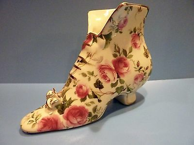Formalities by Baum Bros Decorative Pink Roses Porcelain Shoe