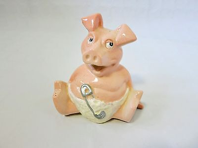 Vintage Collectable NatWest China Baby Woody Piggy Bank Money Box