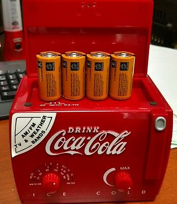 Coke.  Am/Fm, TV And Weather Band Radio with New Batteries..