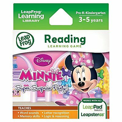LeapFrog Disney Minnie's Bow-tique Surprise Party Learning Game ~RETURN LIKE NEW