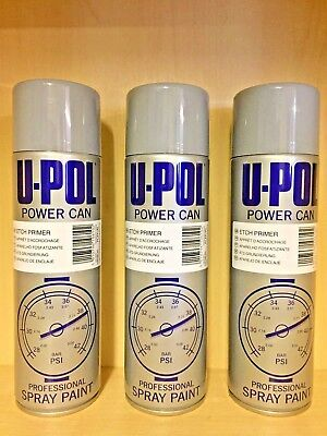 UPOL x3 Power Cans Etch Primer Grey Aerosol 500ml PCEP/AL NEW STOCK