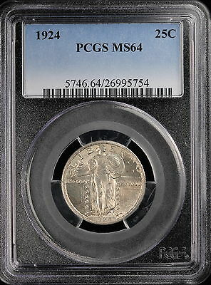1924 Standing Liberty Quarter, PCGS MS 64, Lafayette Rarities (1115)