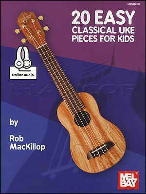 20 Easy Classical Uke Pieces for Kids Ukulele TAB Music Book with Audio Mozart