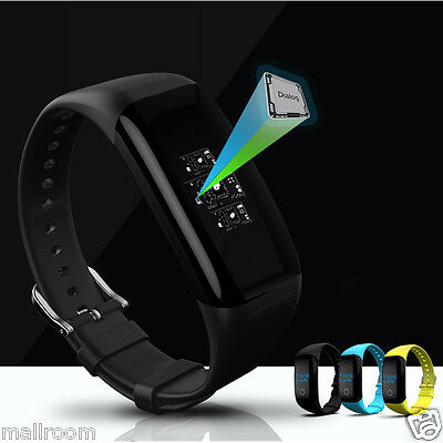 Smart Watch Bluetooth Armband Heartrate Monitor Fitness G-sensor für Android iOS
