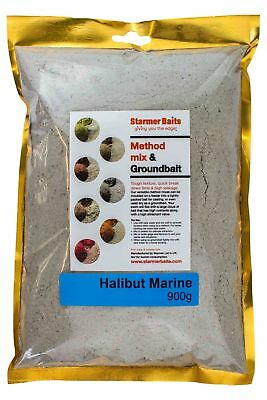 Halibut marine method mix and ground bait for carp and coarse fishing