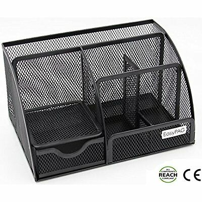 Drawer Organizers EasyPAG Mesh Desk Organizer 6 Compartment Office Accessories