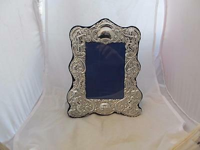 Contemporary Picture Frame Pewter with Decorative Floral Border. CLW00688