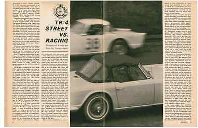 1963 Triumph Tr-4 Street Vs Racing  ~  Great 4-Page Road Test / Article / Ad