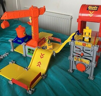 Bob The Builder Construction Site - Play set With Crane And Lift