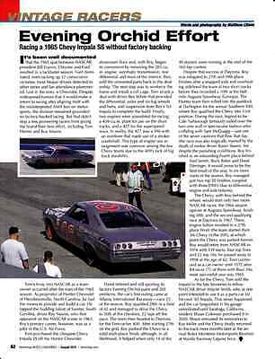 1965 Chevrolet Impala Ss  ~  Nice Vintage Racer Article / Ad