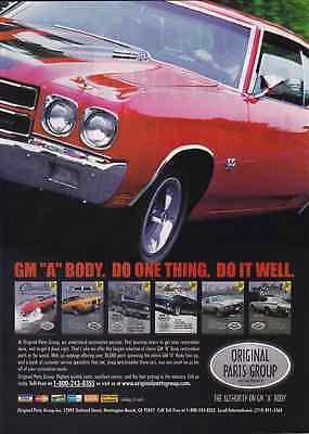 1970 Chevrolet Chevelle Ss  ~  Great Opg Muscle Car Ad