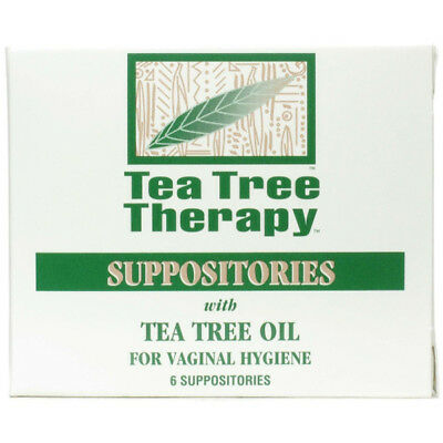 Tea Tree Therapy Suppositories with Tea Tree Oil - 6 x 2 grams Suppositories