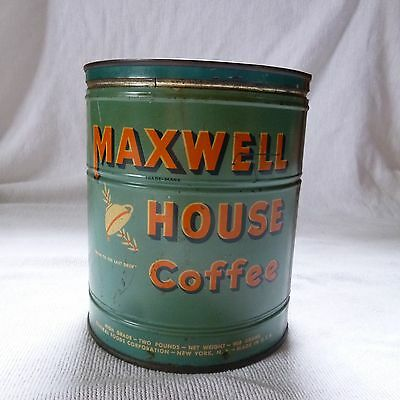 Vintage Maxwell House Coffee Tin Net Weight 2 lb Drip Grind