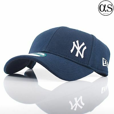 New Era 9FORTY  Flawless Wool  New York Yankees Navy Curved Peak Adjustable  Cap 687304e28048