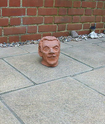 """VINTAGE TERRACOTTA POTTERY BUST -STUDY of a MALE HEAD- """"DISTINGUISHED GENTLEMAN"""""""