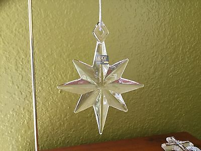 "MIKASA 8-point Crystal Christmas Star ornament 4"" x 3"", with label"