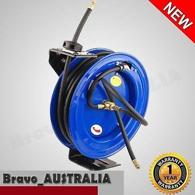 15m Pneumatic Air Hose Reel Compressor Hose Auto Retractable Wall Mount Bracket