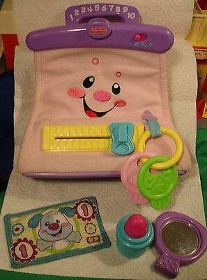 Fisher Price Laugh n Learn musical Purse  w original accessories +