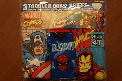 NEW Marvel Comics Toddler Boy's Briefs 3 Pack Size 4T