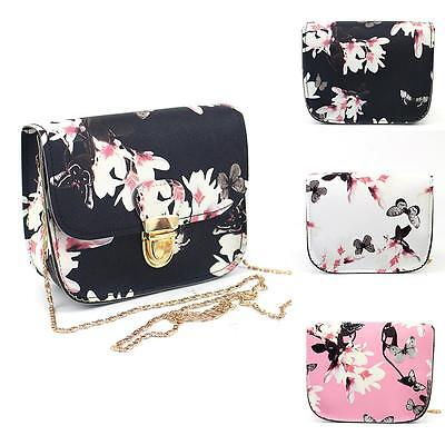 Women Floral Small Mini Chain Bag Shoulder Bag Tote Purse Handbag Messenger