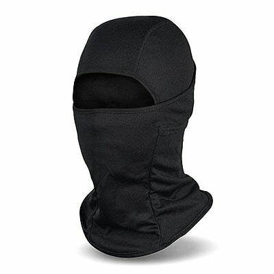 Ski Full Face Mask Cover Hat Cap Motorcycle Thermal Balaclava Neck Winter Black