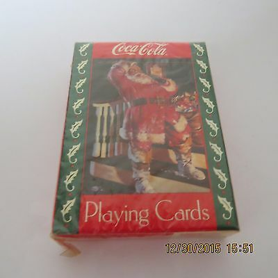 Coca Cola COKE Sealed Playing Cards Deck NEW 1993 Santa