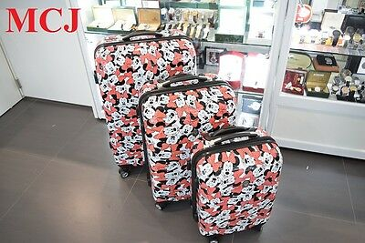 Brand New - Disney Luggage Minnie Mouse 3 pc Suitcase Set