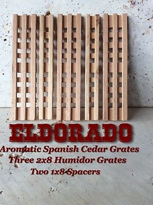 2x8 Spanish Cedar Humidor Grates And 1x8 Spacers For Humidor Humidification