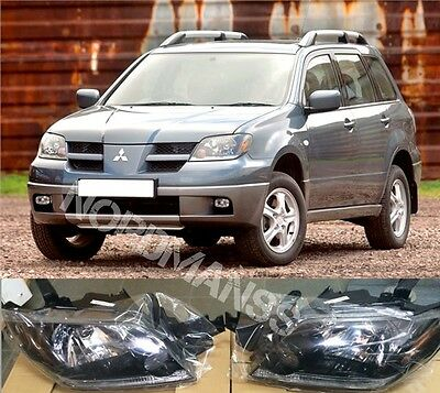 MITSUBISHI OUTLANDER 2003-2005 Left and Right Set Front Head lamps Headlights