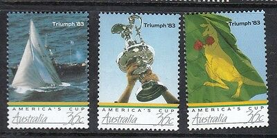 1986 Australian Decimal stamps - Americas Cup - Set of 3 MNH