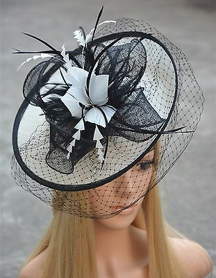 Womens Fascinator Cocktail Hat sinamay Kentucky Derby Church Wedding Party A332