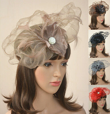 Womens Fascinator Cocktail Hat sinamay Kentucky Derby Church Wedding Party A071