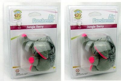 2 x Toy Air Fresheners Giraffe & Elephant Hanging Car Home Office Toy Freshener
