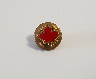 Mini Dark Red Bold Edges Canadian Maple Leaf Lapel Hat Collectible Pin