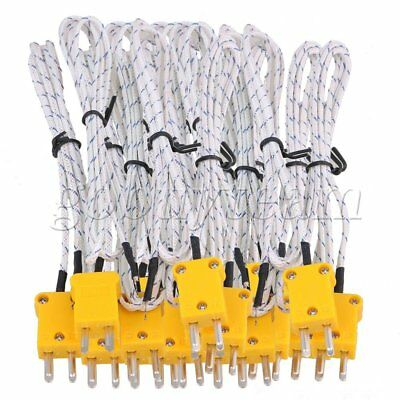 20Pcs 1m Thermocouple Sensors K Type Cable Stainless Steel Probe with Connector