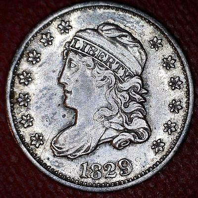 Very Scarce 1829 Lm-9 Valentine-11 Capped Bust Half Dime - Lm Listed Rarity 5