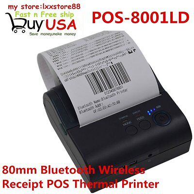 80mm Bluetooth Wireless Receipt POS-8001LD Thermal Printer For Android & Windows
