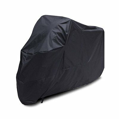 Motorcycle Cover Waterproof Dustproof Protective Cover (Black, XL) S4J4