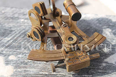 "Antique Nautical Solid Brass Marine Sextant 4"" Replica Ship Astrolabe Gift Item."